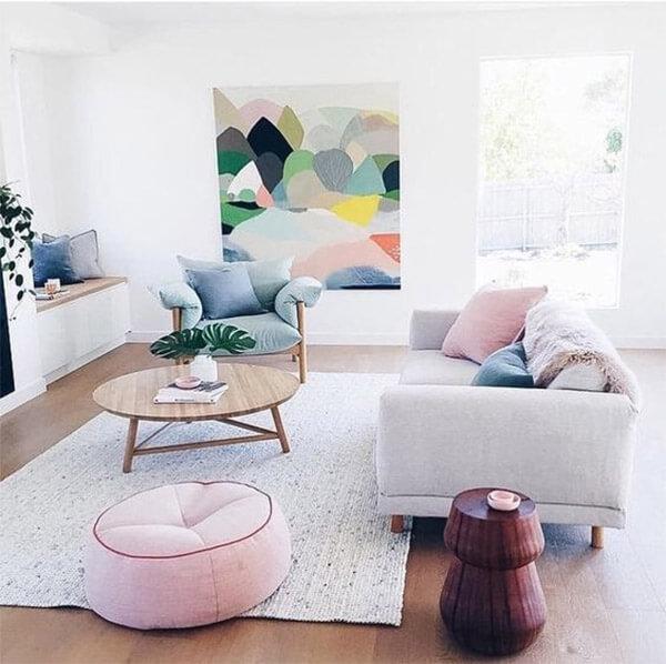 Pastel interieur variatie