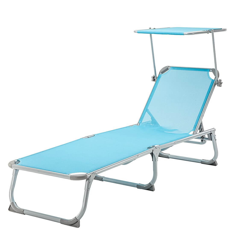 Ligstoel op het balkon