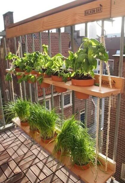Hangtuin voor balkonreling
