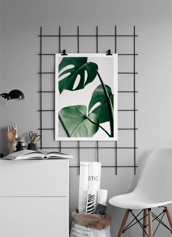 Botantische wanddecoratie bladeren poster