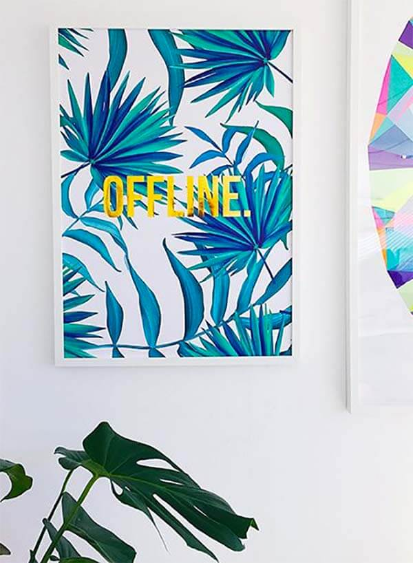 Botantische wanddecoratie poster offline