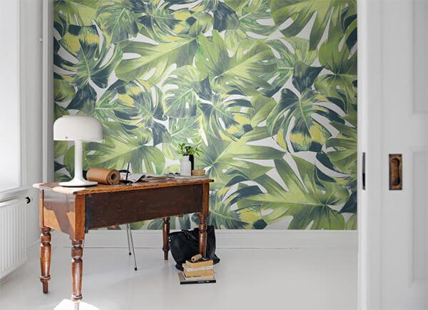 Botantische wanddecoratie tropisch behang