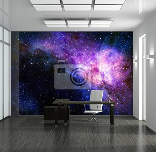 Galaxy items behang