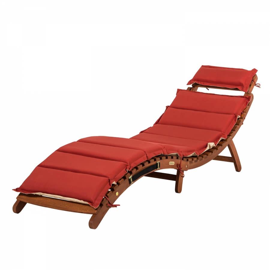 Ligstoel voor op het balkon