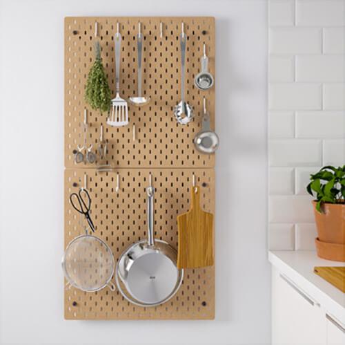 nieuw bij ikea skadis wandopbergers ik woon fijn. Black Bedroom Furniture Sets. Home Design Ideas