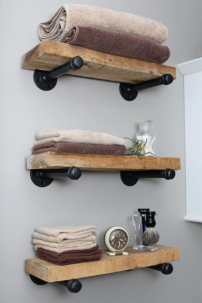 Industriele plankjes DIY