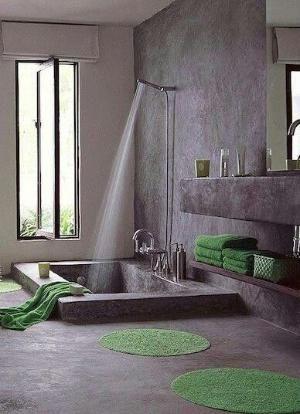 Luxe ligbad in industriële stijl