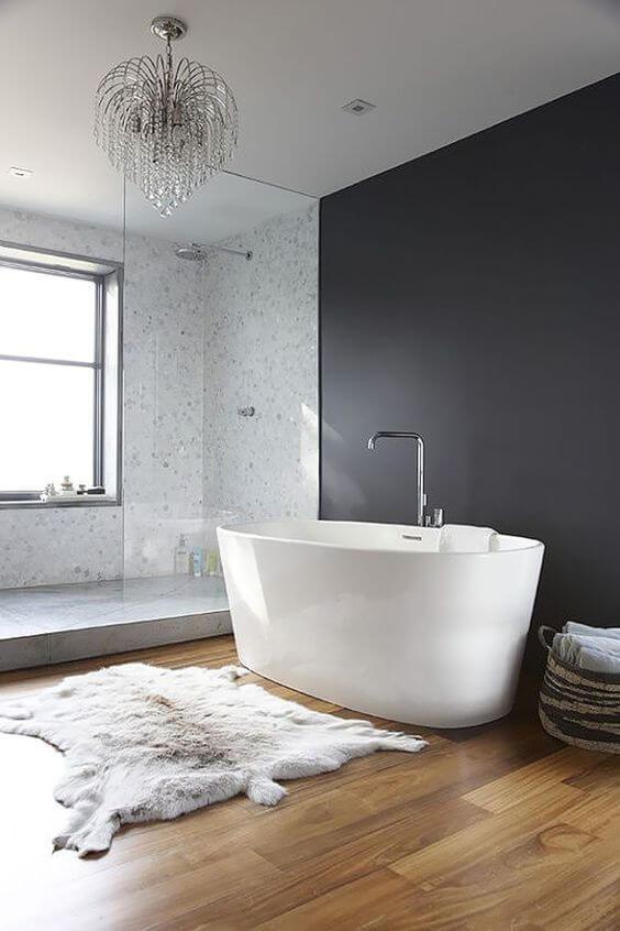 Luxe ligbad met minimalistisch design