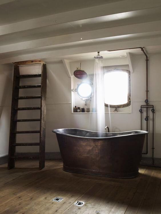 Luxe ligbad vintage met douche