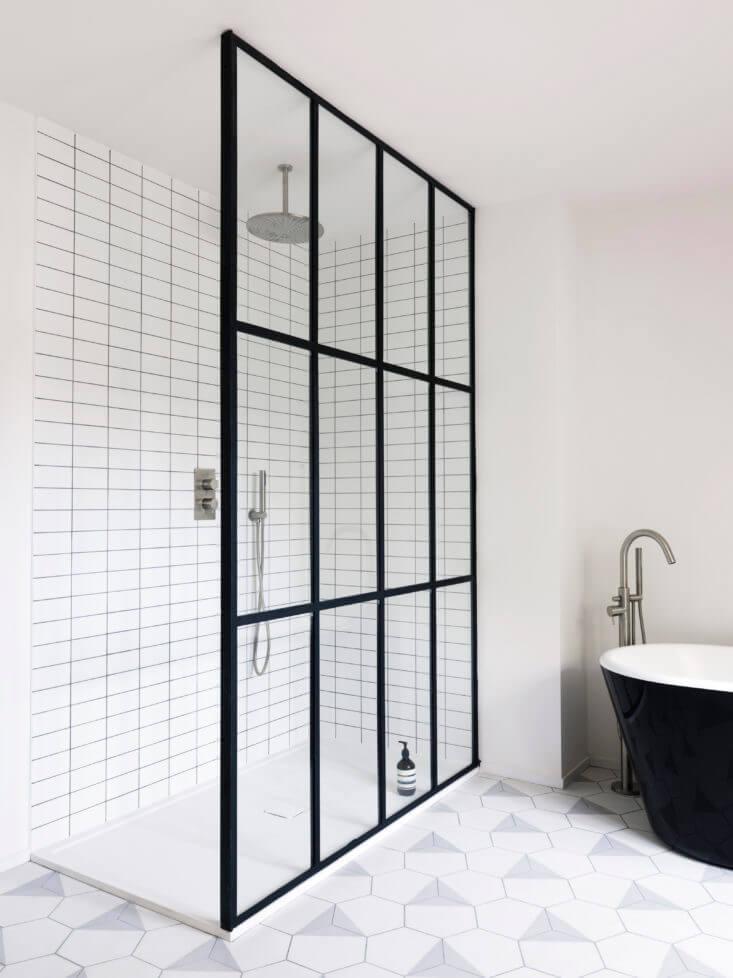 Stalen douchewand zonder deur