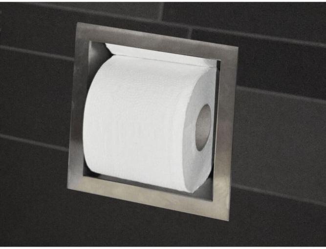 Moderne toiletrol houder
