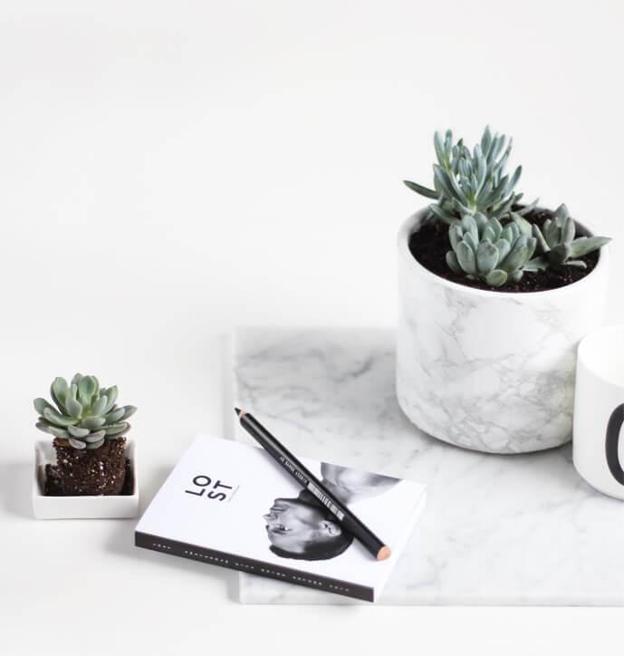 marmeren plantenpot