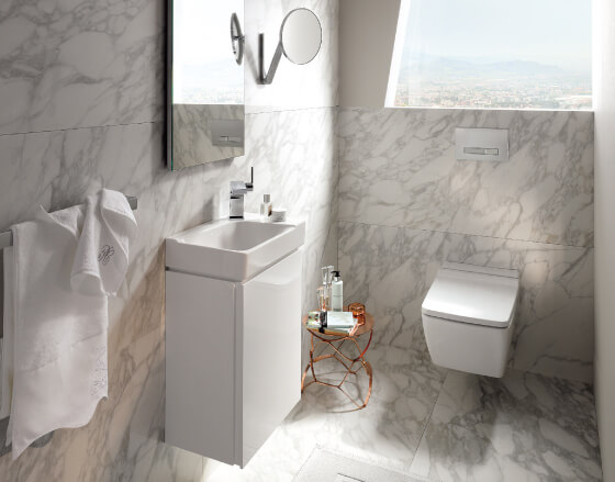Minimalistisch sanitair in de badkamer