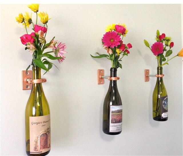 DIY vaas fles ophangen