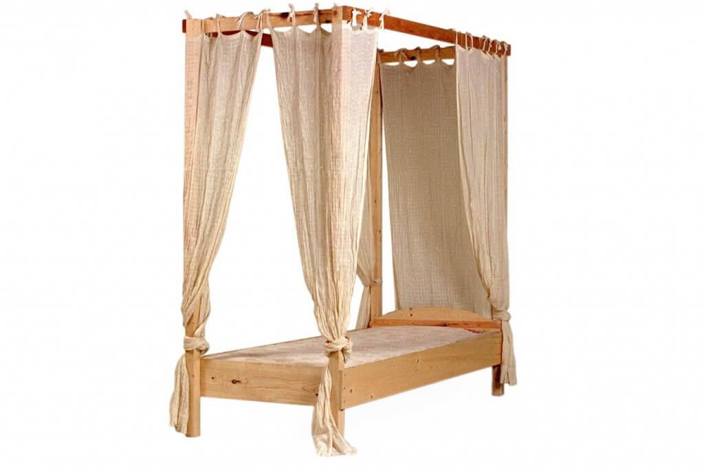 houten hemelbed 1p