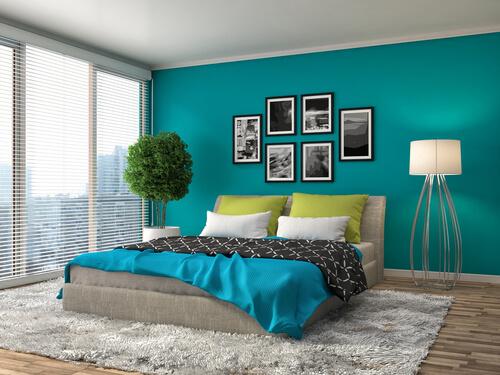Slaapkamer met boxspring
