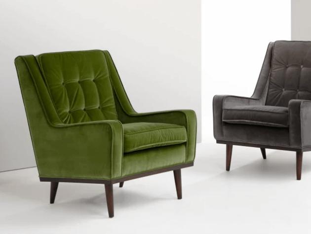 fluwelen fauteuil made