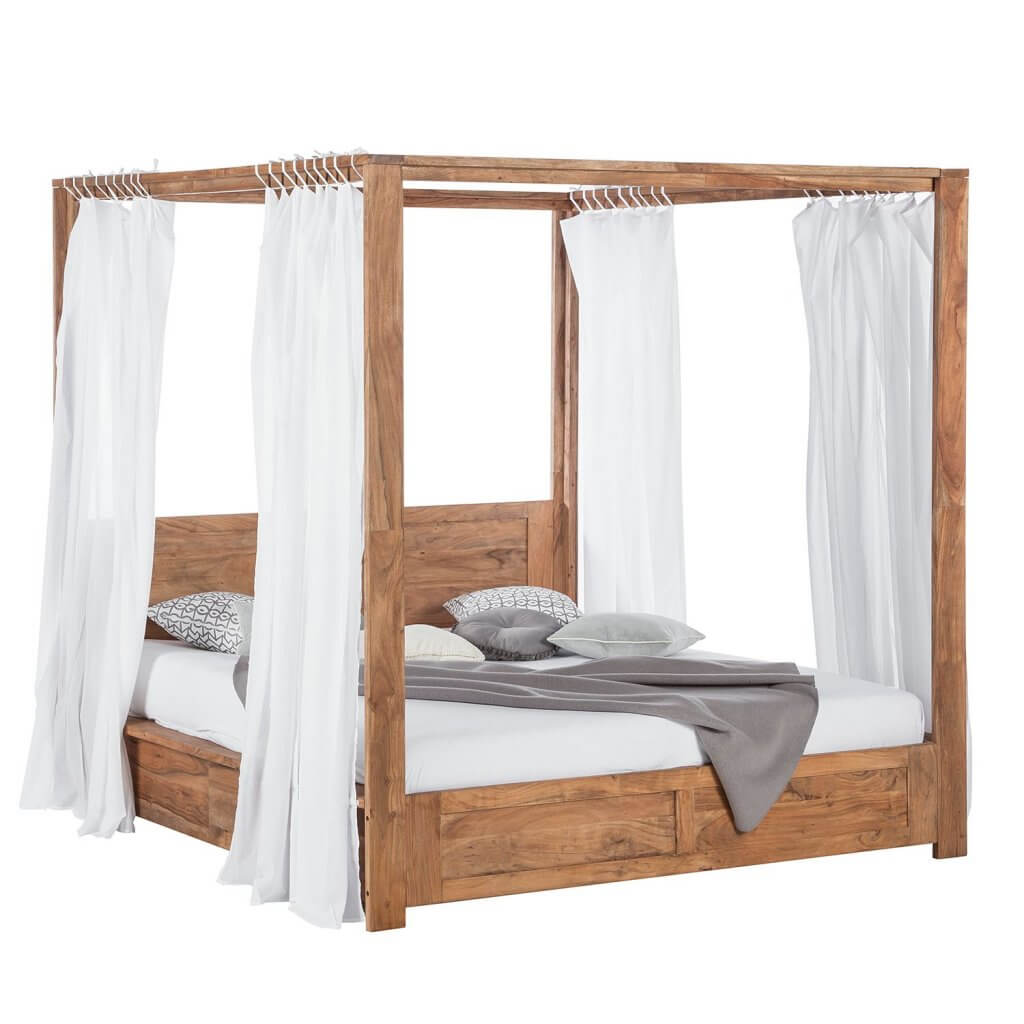 hoe een hemelbed ook stoer kan zijn ik woon fijn. Black Bedroom Furniture Sets. Home Design Ideas