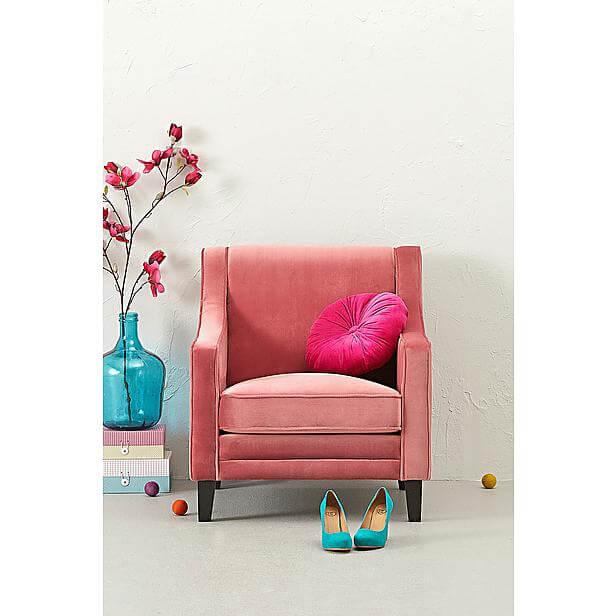 fluwelen fauteuil capri