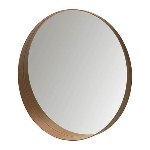 ronde spiegel hout ikea