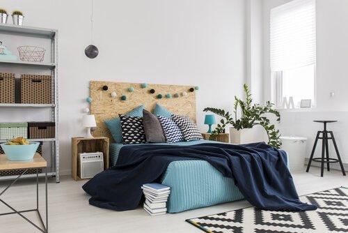 Lichte slaapkamer in pasteltinten