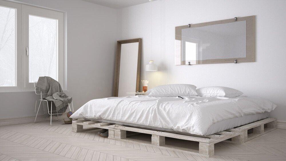 licht houten vloer wit