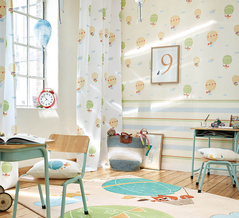 5x vrolijk behang voor in de kinderkamer ik woon fijn - Gordijnen voor de kinderkamer ...