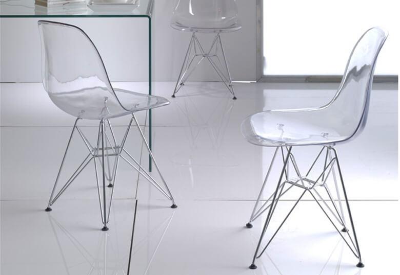 De transparante eetkamerstoel ge nspireerd op kartell ghost chair ik woon fijn - Transparante stoel kartell ...