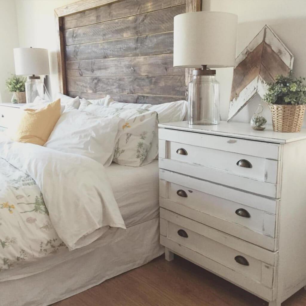 landelijke slaapkamer wit