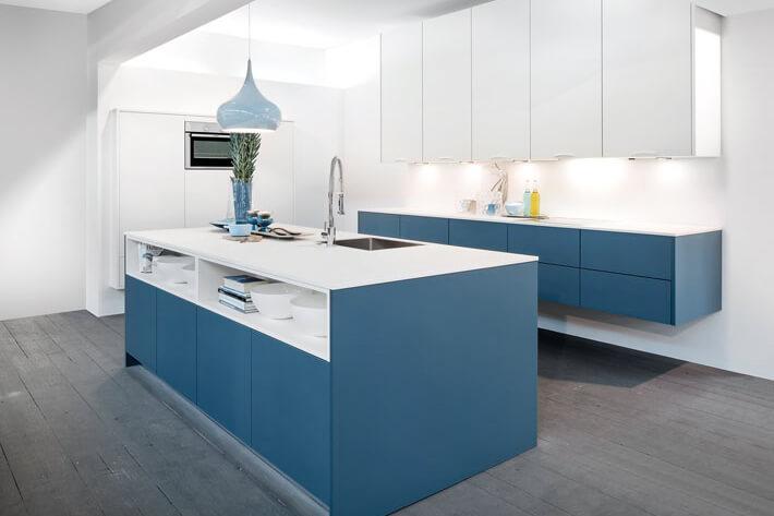 Moderne Blauw Keuken : Feeling blue niet nodig met deze blauwe keukens ik woon fijn