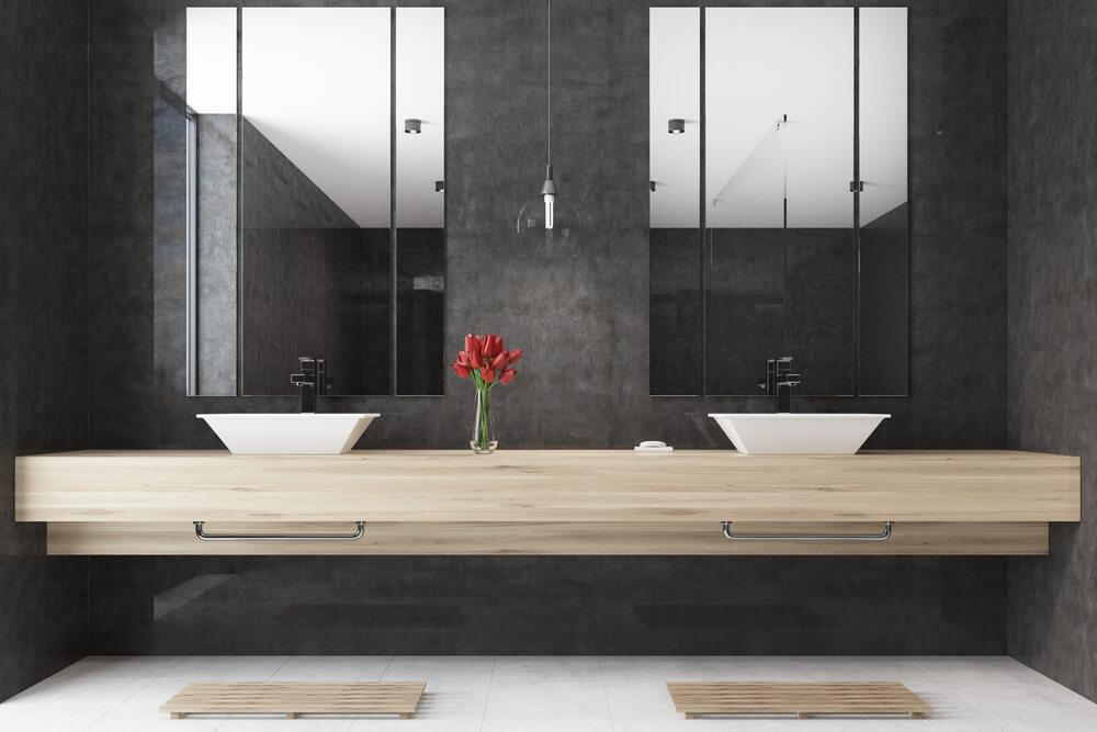 Uitgelezene Badkameridee: wasbak op een zwevende plank | Ik woon fijn OU-47