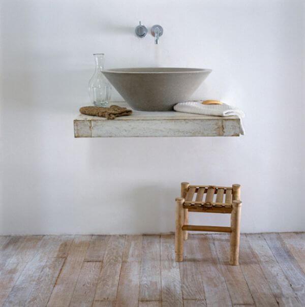 wastafel zwevende plank