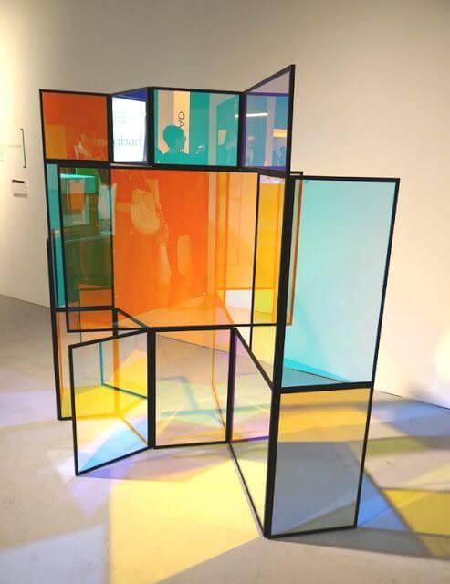 Gekleurde roomdivider van polycarbonaat