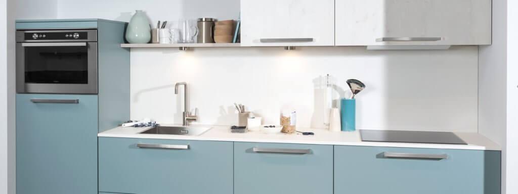 Scandinavische keuken blauw