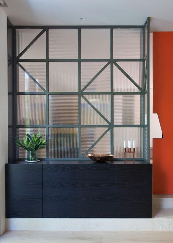 Roomdivider in interieur