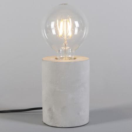 gloeilamp tafellamp beton rond