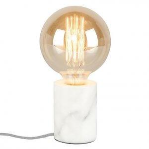 gloeilamp tafellamp marmer