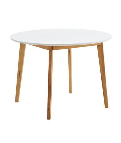ronde eettafel wit hout jysk