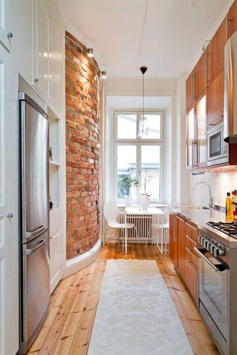 bakstenen muur keuken