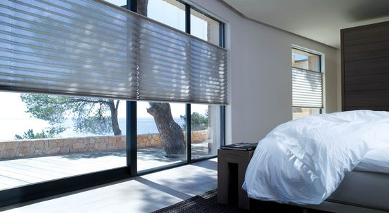 plisségordijn slaapkamer