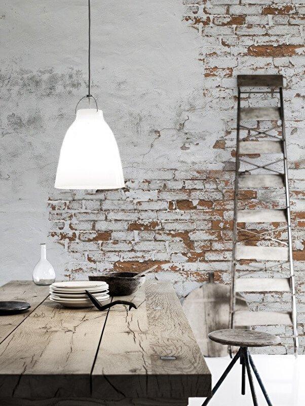 bakstenen muur woonkamer