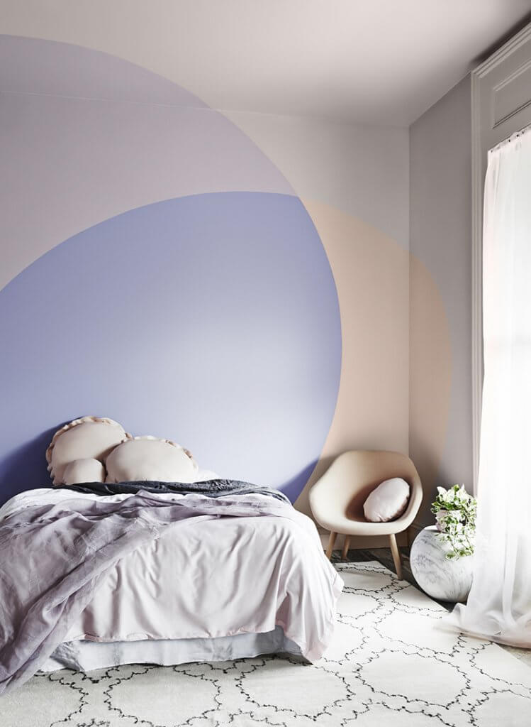 color blocking interieur pastel
