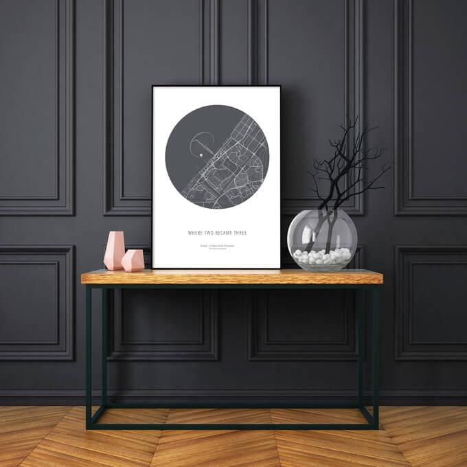 minimalistische plattegrond