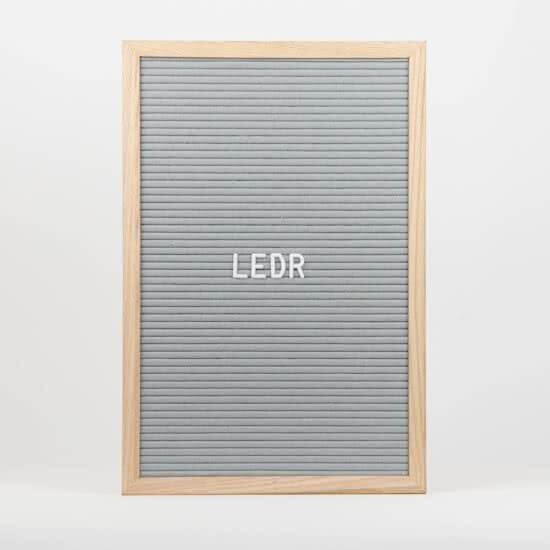 letterbord ledr
