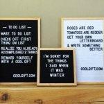 Waar koop je een retro letterbord?
