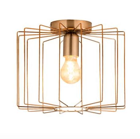 plafondlamp koper