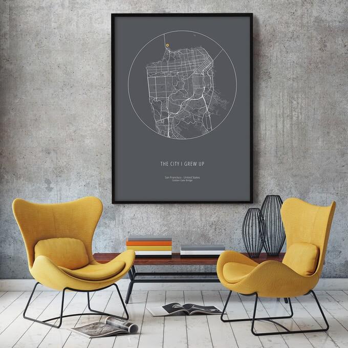 minimal city art