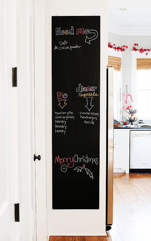 schoolbordverf diy deur