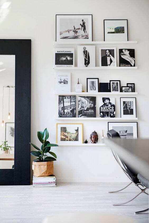 schilderijplank zwart-wit foto's