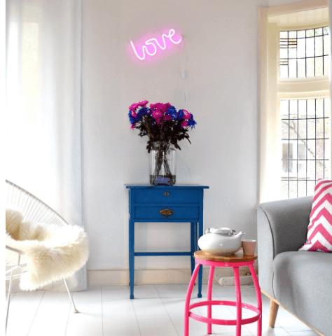 neon lamp love